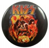 Kiss - 'Group Explosion' Button Badge